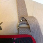 detail of D rings and webbing beck strap