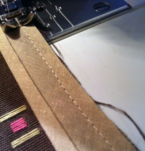 machine stitch along the fold