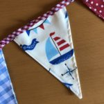 Beach Hut bunting apron