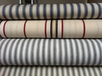 Range of traditional striped cotton ticking