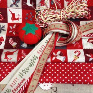 the-s box November 2017 Nostalgic Noel Fabric and Ribbon