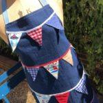Beach Hut bunting apron