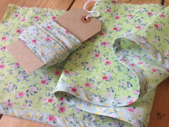 finished handmade bias binding