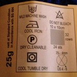 Yarn Care Label Example