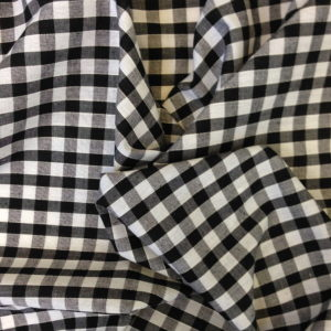 Black & White Gingham Fabric Standard 1/4 inch check