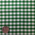 Emerald Green & White Gingham Fabric Standard 1/4 inch check