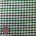 Emerald Green & White Gingham Fabric Mini 1/8 inch check