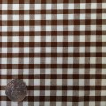 Brown & White Gingham Fabric Standard 1/4 inch check