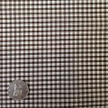 Brown & White Gingham Fabric Mini 1/8 inch check