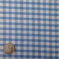 Lt Blue & White Gingham Fabric Standard 1/4 inch check