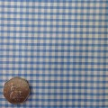 Lt Blue & White Gingham Fabric Mini 1/8 inch check