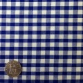 Navy Blue & White Gingham Fabric Standard 1/4 inch check