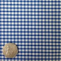 Royal Blue & White Gingham Fabric Mini 1/8 inch check