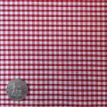 Red & White Gingham Fabric Mini 1/8 inch check