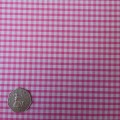 Pink & White Gingham Fabric Mini 1/8 inch check