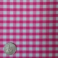 Pink & White Gingham Fabric Standard 1/4 inch check