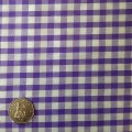 Purple & White Gingham Fabric Standard 1/4 inch check