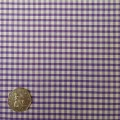 Purple & White Gingham Fabric Mini 1/8 inch check