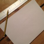 draw out the template for Christmas bunting