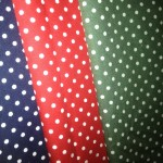 Spotted Cotton fabric for Christmas bunting