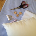 Make your own beach hut cushion cover