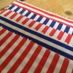 Make your own beach hut cushion cover process