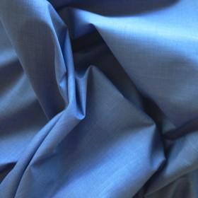 Mid Blue Polyester Cotton Poplin 112cms wide