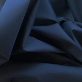 Navy Polyester Cotton Poplin 112cms wide