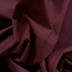 Burgundy Polyester Cotton Poplin 112cms wide