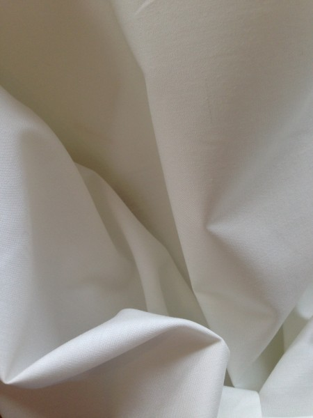 White Cotton Sheeting 235cms wide