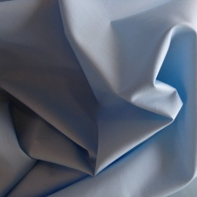 Lt Blue Plain Cotton Poplin 112cms wide