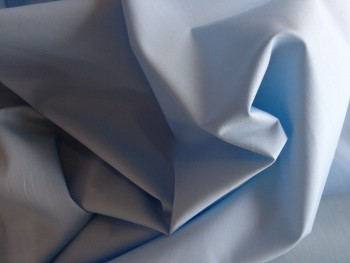 Lt Blue Plain Cotton Poplin 112cms wide