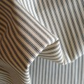 100% Cotton Ticking Black & Cream Stripes
