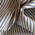 100% Cotton Ticking Blue & Cream Stripes