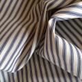 100% Cotton Ticking Blue & Cream Stripes