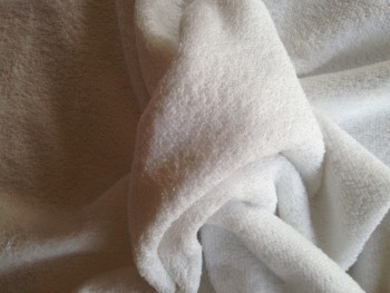 White double sided, Cotton-rich towelling fabric