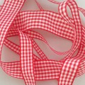 Red Gingham Ribbon