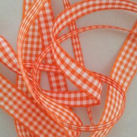 Orange Gingham Ribbon