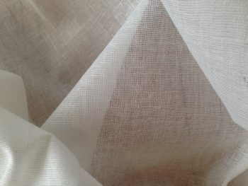 White Cotton Muslin 150cms Wide