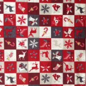 Christmas Motifs Cotton Poplin