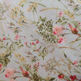 Wildflowers Pale Blue InPrint Cotton Fabric