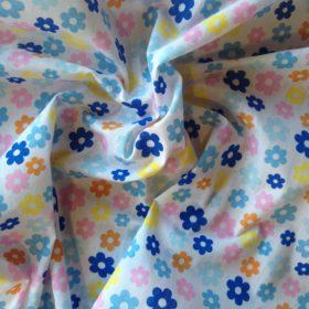 Printed Polyester Cotton Poplin : Multi Flowers