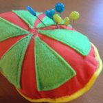 Juicy fruity piped pincushion