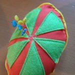 Juicy fruity piped pincushion