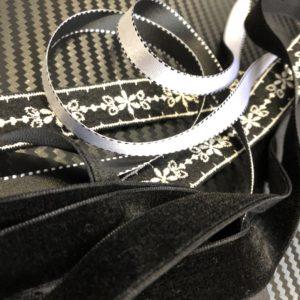 the-s box December 2017 Black Velvet : Ribbon & Trim Selection